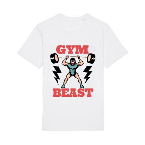 Tricou STANLEY STELLA barbat Gym Beast Alb
