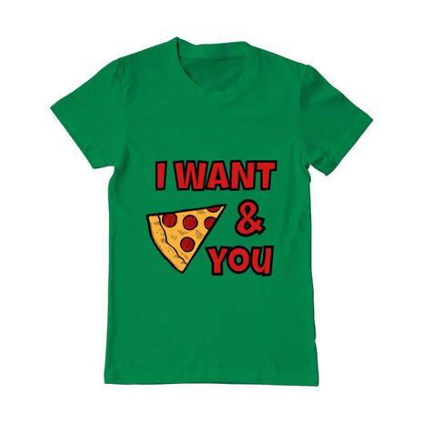 Tricou ADLER barbat I want you Verde mediu