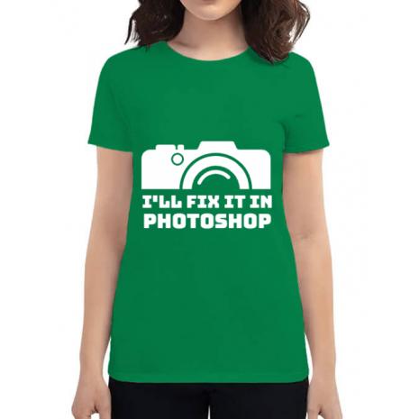 Tricou ADLER dama I'll fix it Verde mediu