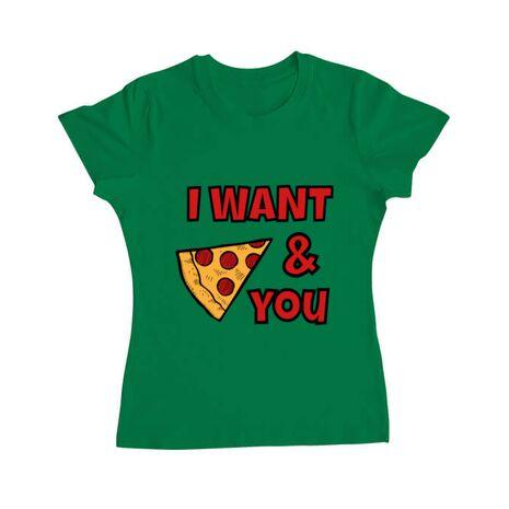 Tricou ADLER dama I want you Verde mediu