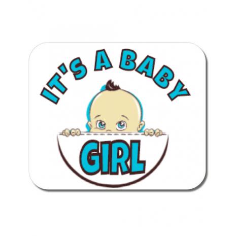 Mousepad personalizat It's a baby girl Alb