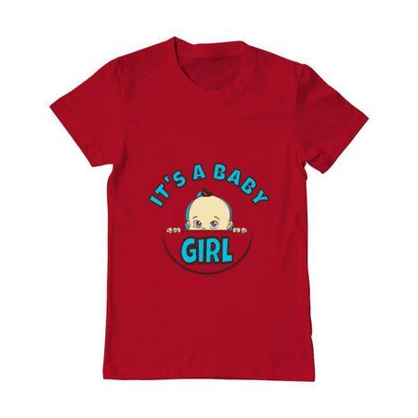 Tricou ADLER barbat It's a baby girl Rosu