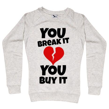 Bluza ADLER dama You break it , you buy it Migdala melanj
