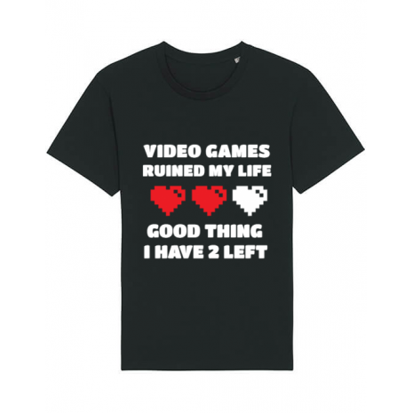 Tricou STANLEY STELLA barbat Video games ruined my life Negru
