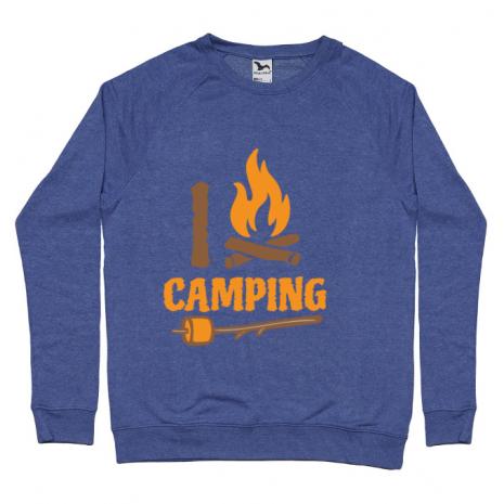 Bluza ADLER barbat I love Camping Albastru melanj