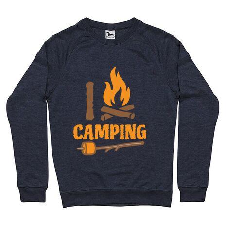 Bluza ADLER barbat I love Camping Denim inchis
