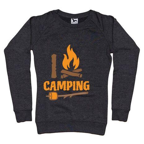 Bluza ADLER dama I love Camping Negru melanj
