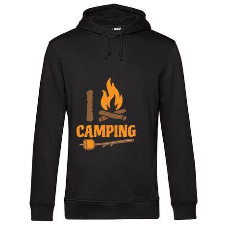 Hoodie barbat cu gluga I love Camping Negru