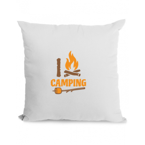 Perna personalizata I love Camping Alb