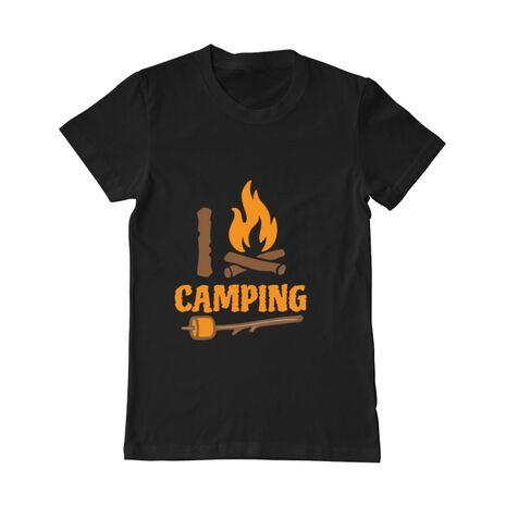 Tricou ADLER barbat I love Camping Negru