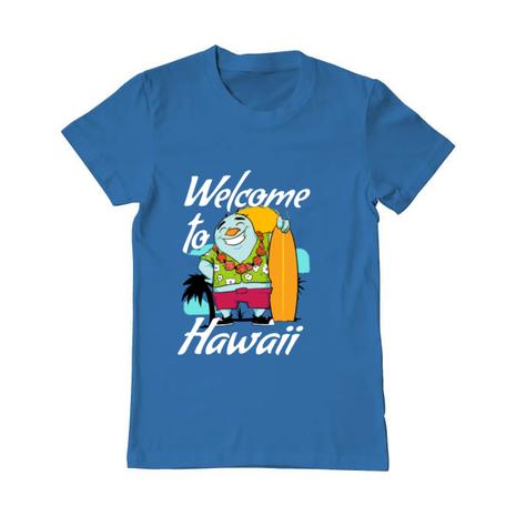 Tricou ADLER barbat Welcome to Hawaii Albastru azuriu