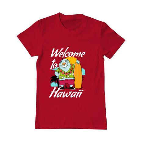 Tricou ADLER barbat Welcome to Hawaii Rosu