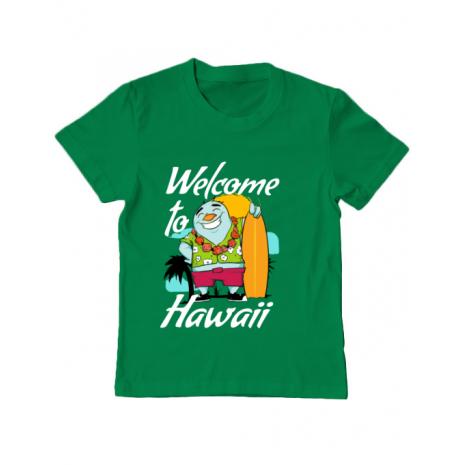 Tricou ADLER copil Welcome to Hawaii Verde mediu