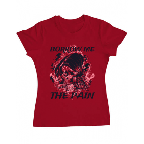 Tricou ADLER dama Borrow me the pain Rosu