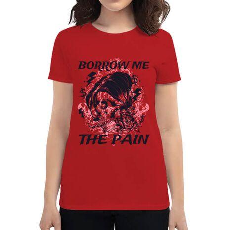 Tricou ADLER dama Borrow me the pain Rosu