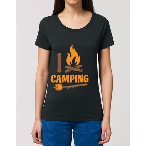 Tricou STANLEY STELLA dama I love Camping Negru
