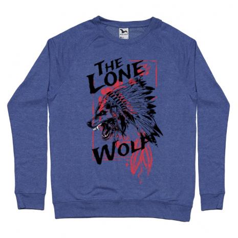 Bluza ADLER barbat The lone wolf Albastru melanj