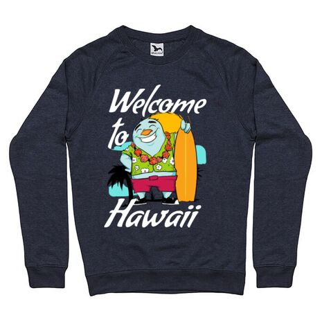 Bluza ADLER barbat Welcome to Hawaii Denim inchis