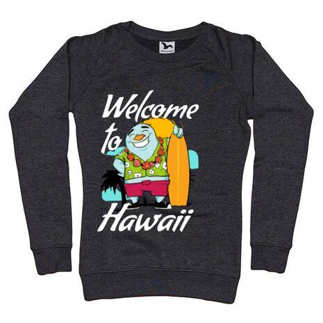 Bluza ADLER dama Welcome to Hawaii Negru melanj