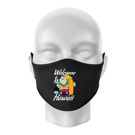 Masca personalizata reutilizabila Welcome to Hawaii Negru