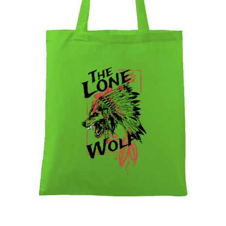 Sacosa din panza The lone wolf Verde mar