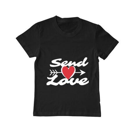 Tricou ADLER copil Send love Negru