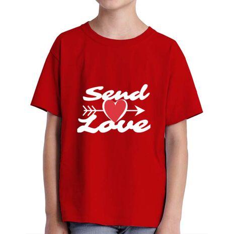 Tricou ADLER copil Send love Rosu