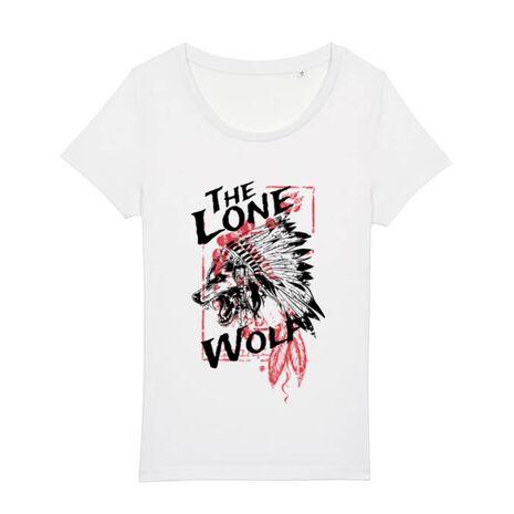 Tricou STANLEY STELLA dama The lone wolf Alb