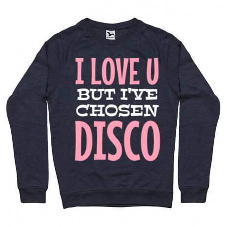 Bluza ADLER barbat I've chosen disco Denim inchis