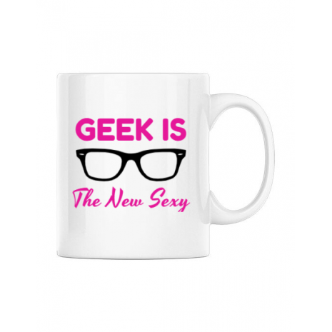 Cana personalizata Geek is the new sexy Alb