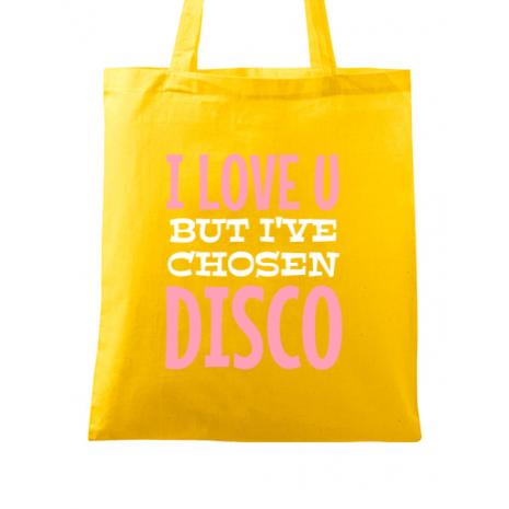 Sacosa din panza I've chosen disco Galben