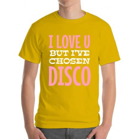 Tricou ADLER barbat I've chosen disco Galben