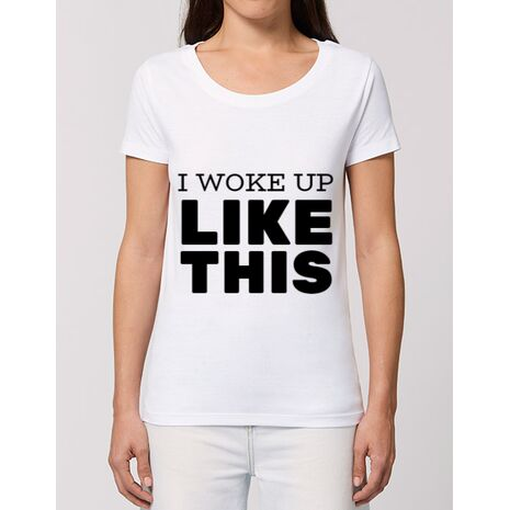 Tricou STANLEY STELLA dama I woke up like this Alb