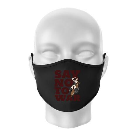 Masca personalizata reutilizabila Say no to war Negru