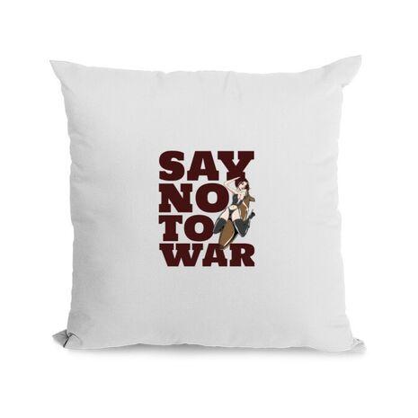 Perna personalizata Say no to war Alb