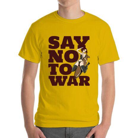 Tricou ADLER barbat Say no to war Galben