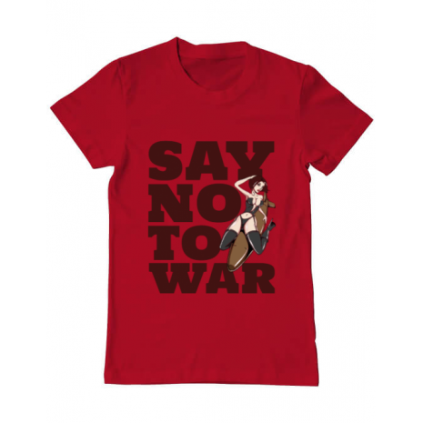 Tricou ADLER barbat Say no to war Rosu