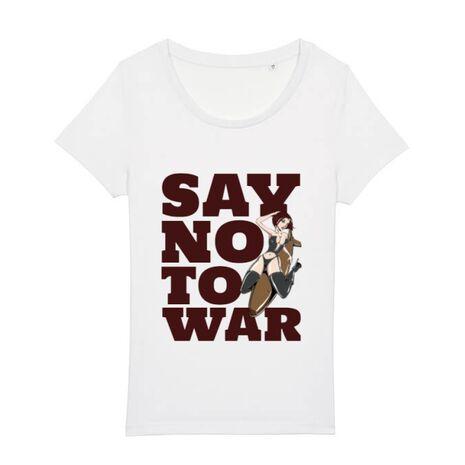Tricou STANLEY STELLA dama Say no to war Alb