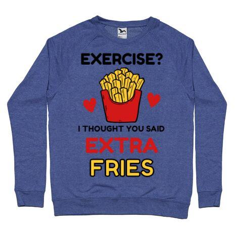 Bluza ADLER barbat Exercise extra fries Albastru melanj