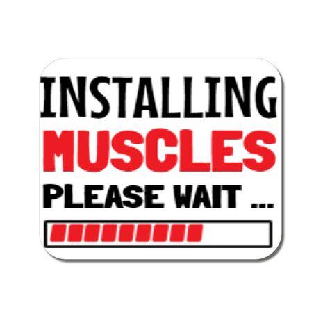 Mousepad personalizat Installing Muscles Alb