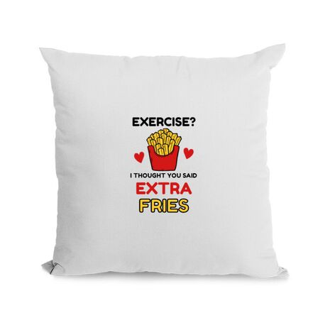 Perna personalizata Exercise extra fries Alb