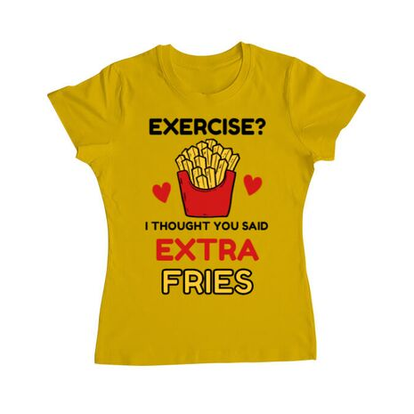 Tricou ADLER dama Exercise extra fries Galben