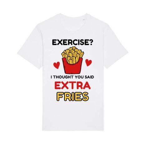 Tricou STANLEY STELLA barbat Exercise extra fries Alb