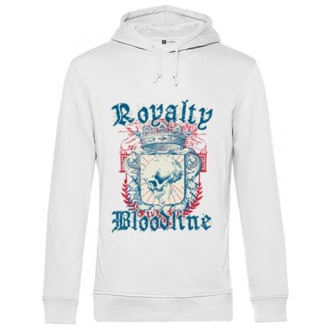 Hoodie barbat cu gluga Royalty bloodline Alb