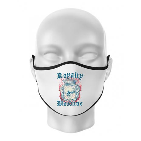 Masca personalizata reutilizabila Royalty bloodline Alb