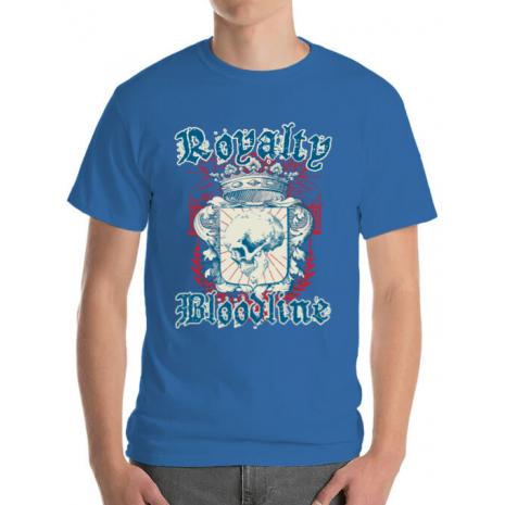 Tricou ADLER barbat Royalty bloodline Albastru azuriu