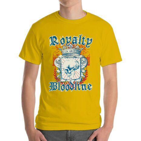 Tricou ADLER barbat Royalty bloodline Galben