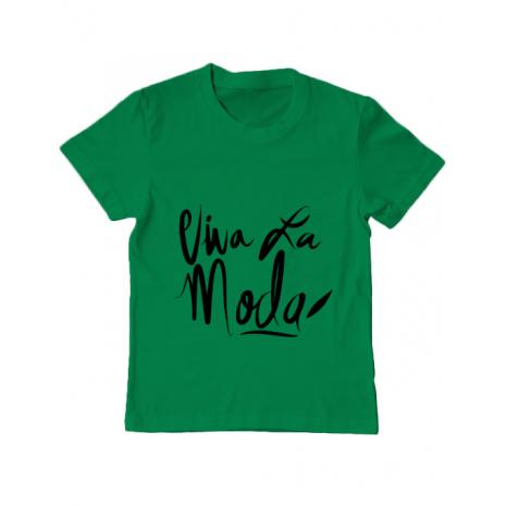 Tricou ADLER copil Viva la moda Verde mediu