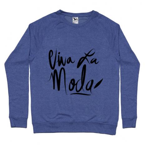 Bluza ADLER barbat Viva la moda Albastru melanj