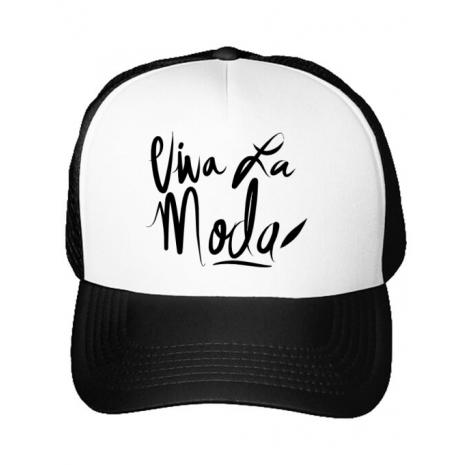 Sapca personalizata Viva la moda Alb